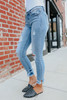 About Town Medium Wash Distressed Skinny Jeans