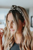 Top Knot Pleated Leopard Headband
