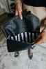 Stella Vegan Leather Black Crossbody Clutch