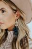 Daydream Filigree Tassel Black Earrings