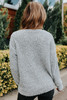 V-Neck Grey Two Tone Sweater