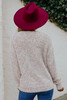 V-Neck Blush Two Tone Sweater
