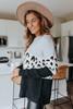 Eden Leopard Colorblock Sweater