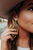 Whitney Metal Fringe Gold Earrings