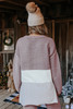 Hot Cocoa Colorblock Henley Pullover