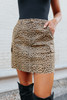 Hollywood Leopard Cargo Skirt