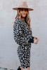 Dolman Leopard Sweater Dress