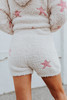 Drawstring Fuzzy Star Lounge Shorts