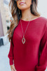 Scalloped Marquise Pendant Necklace