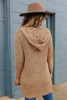 Two Tone Camel Hooded Cardigan