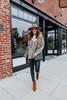 Felicity Leopard Chevron Sweater