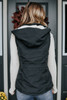 Drawstring Peach Skin Sherpa Vest