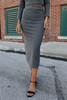 Tilda Side Slit Midi Skirt