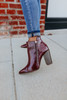 Sabrina Faux Leather Contrast Booties