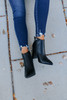 Midtown Faux Leather Black Booties