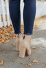 Midtown Faux Leather Nude Booties