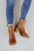 Faux Suede Ribbed Chelsea Booties