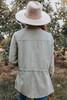 Drawstring Peach Skin Anorak Jacket