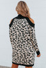Cold Shoulder Leopard Sweater Dress