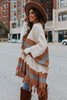 New Day Colorblock Fringe Cardigan