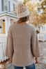 V-Neck Seam Detail Popcorn Sweater