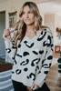 V-Neck Mocha Leopard Cozy Sweater