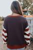 Oxford Lane Contrast Striped Pullover
