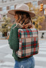 Evergreen Cottage Plaid Backpack