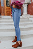 High Rise Medium Wash Skinny Jeans