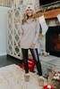 Cowl Neck Mocha Tunic Sweater
