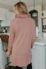 Cowl Neck Light Marsala Tunic Sweater