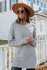 Warm Welcome Ribbed Tunic Sweater