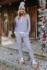 Snowflake Wishes Grey Pajama Set