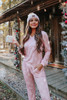 Snowflake Wishes Pink Pajama Set