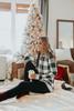 Christmas Morning Ivory Plaid Hoodie