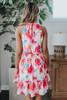 Sweet Shimmer Halter Floral Dress