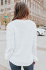 Best Match Textured Sleeve Ivory Sweater