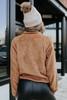 Contrast Half Zip Sherpa Pullover