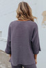 Cuffed Sleeve Ribbed Pullover