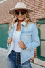 Campus Crush Sherpa Lined Denim Jacket