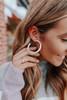 Blakely Metal Silver Hoop Earrings