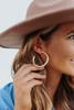 Blakely Metal Rose Gold Hoop Earrings