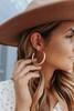 Blakely Metal Gold Hoop Earrings