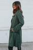 London Calling Vegan Suede Green Coat