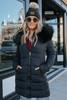 First Snowfall Black Puffer Coat