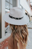 Napa Valley Grey Western Belted Hat