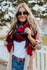 Journey Home Red Plaid Scarf