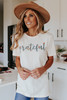 Grateful Floral Graphic Tee
