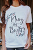 Merry & Bright Holly Tee