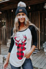Buffalo Plaid Deer Raglan Tee